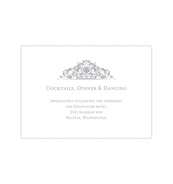 Wedding Reception Invitations Grace Gray Printable Templates