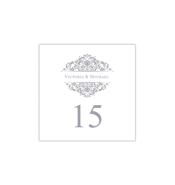 Printable Table Number Template Grace Gray Tent DIY Wedding