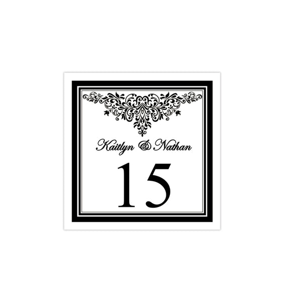 Printable Table Number Template Anna Maria Black White Tent DIY Wedding Template