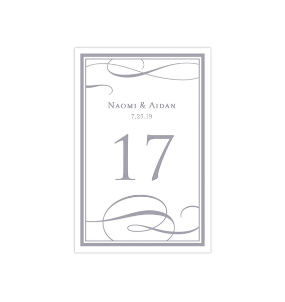 Wedding Table Number Template It's Love Gray Flat Printable DIY