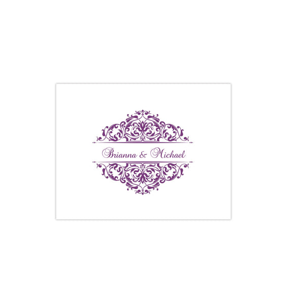 Wedding Thank You Card Grace Purple Printable DIY Template