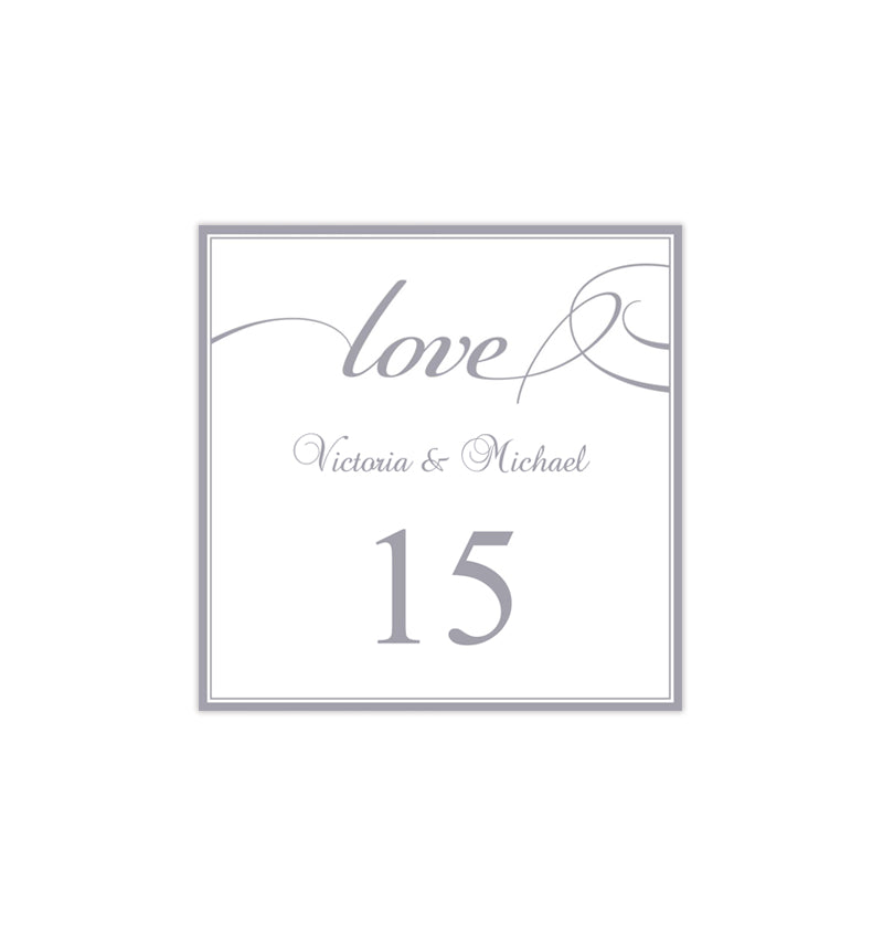 Printable Table Number Template It's Love Gray Tent