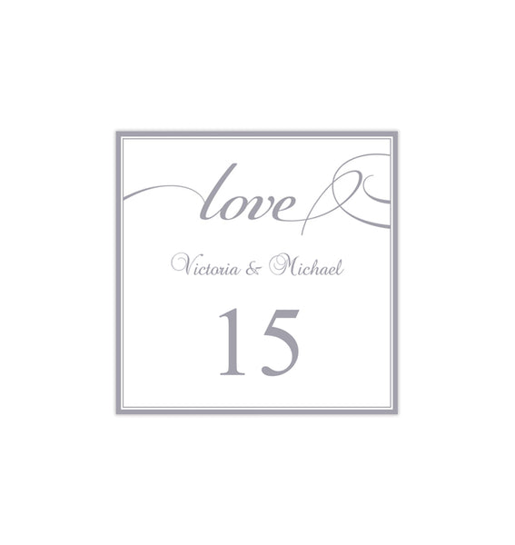 Printable Table Number Template It's Love Gray Tent DIY Wedding