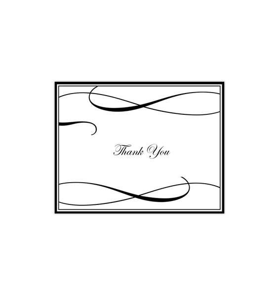 Wedding Thank You Card It's Love Black Printable DIY Templates