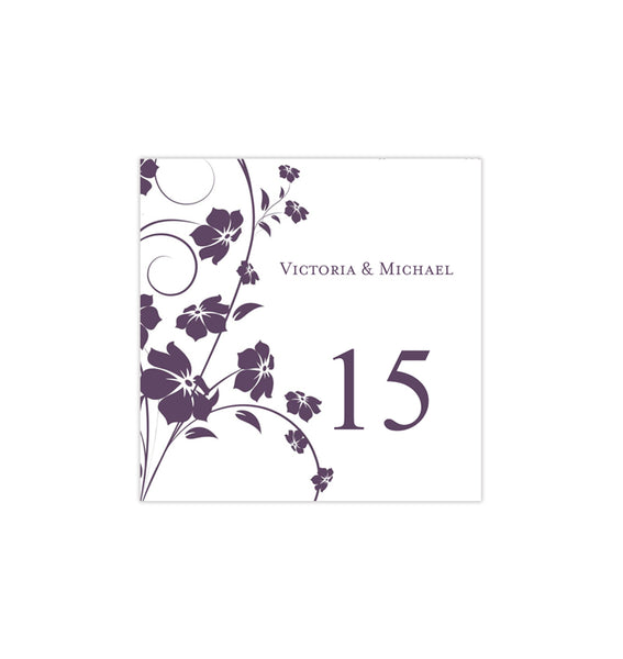 Printable Table Number Template Madison Plum Tent DIY Wedding