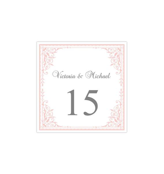 Printable Table Number Template Maria Pink Tent DIY Wedding