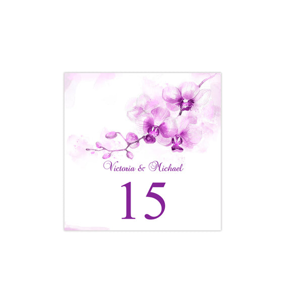 Printable Table Number Template Orchid Purple Tent DIY Wedding