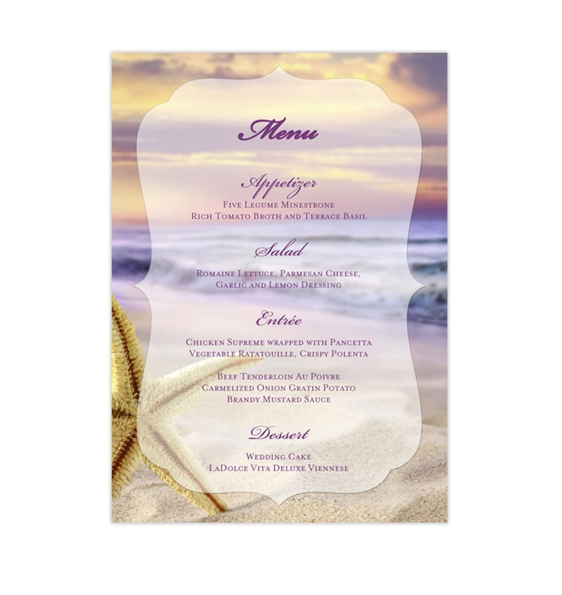 Wedding reception menu template tropical beach wedding template shop wedding reception menu template tropical beach printable diy maxwellsz