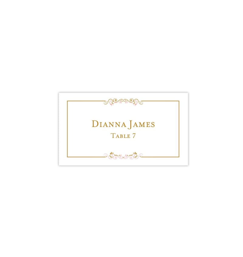 picture about Gold Printable Place Cards identified as Printable Wedding day Issue Playing cards Madelyn Blush Red Gold Flat