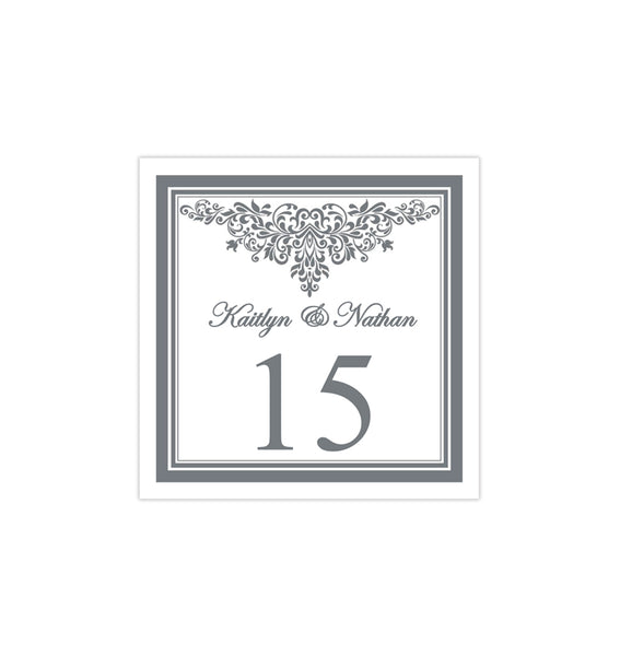 Printable Table Number Template Anna Maria Gray Tent DIY Wedding Templates