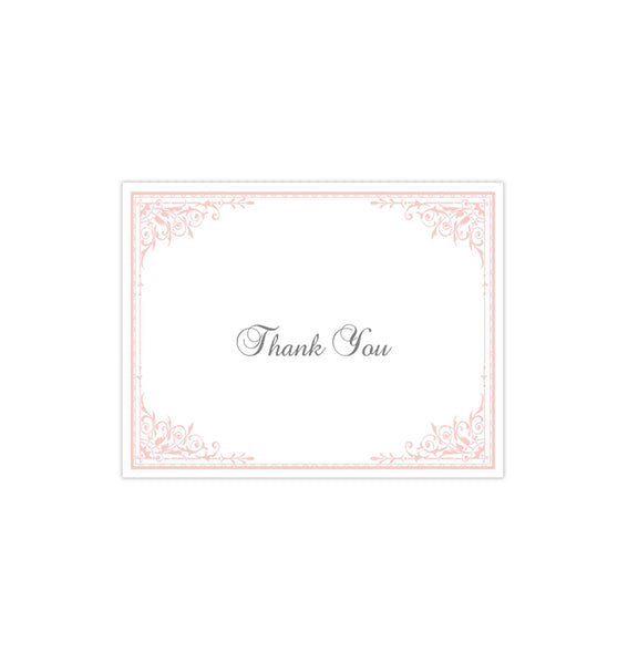 Wedding Thank You Card Maria Pink Printable DIY Templates
