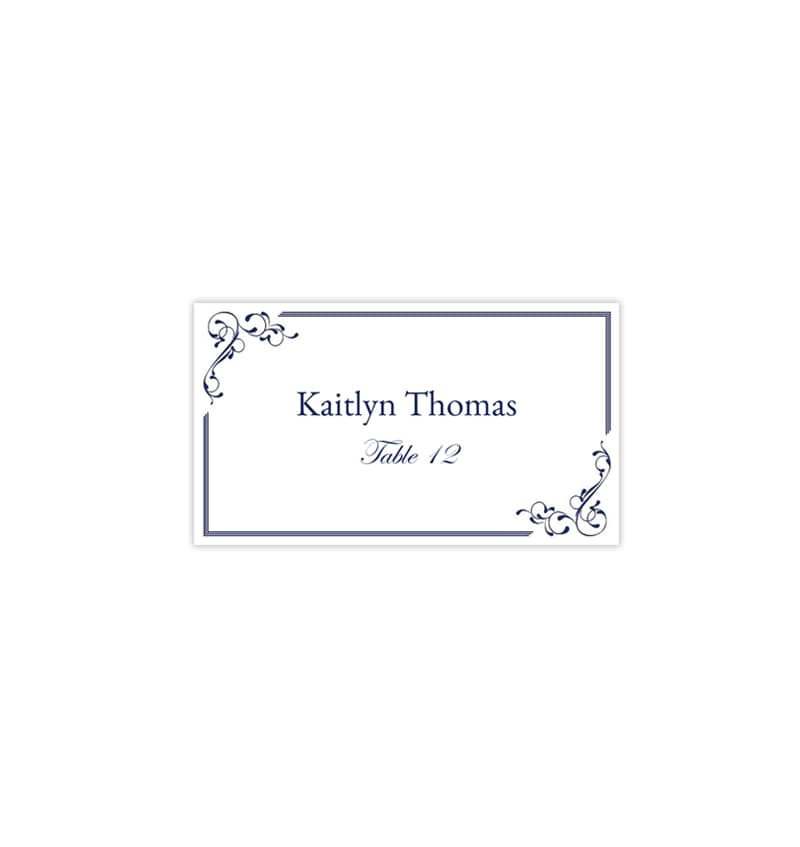 This is a photo of Effortless Printable Seating Cards