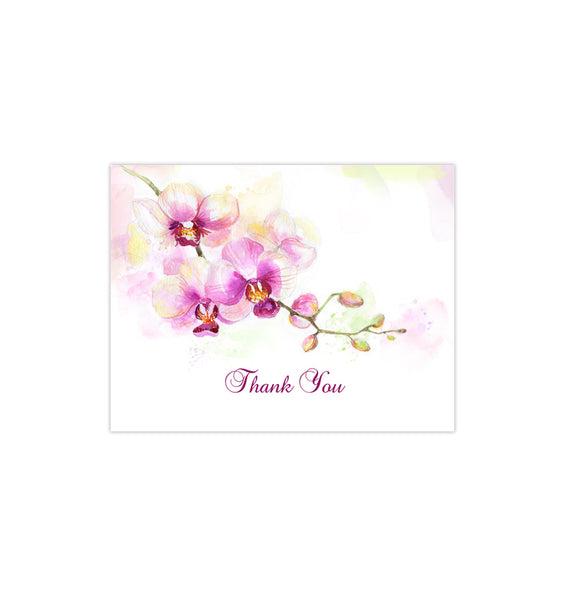 Wedding Thank You Card Orchid Printable DIY Templates