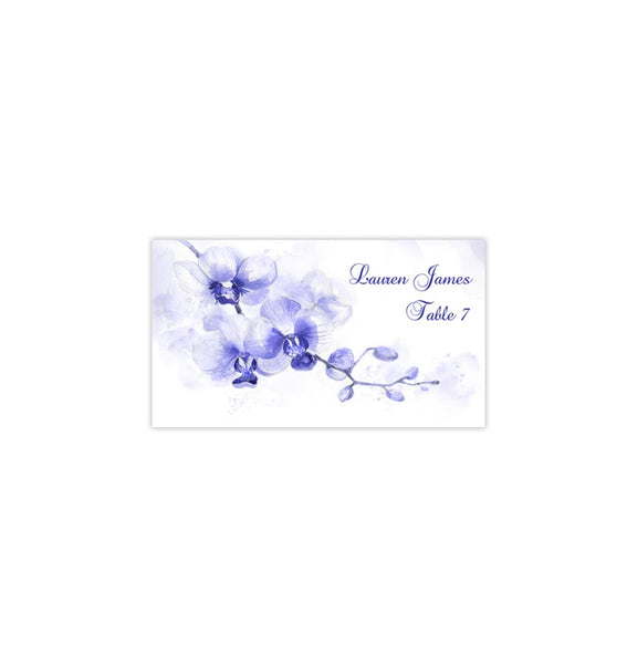 Wedding Seating Card Orchid Blue Shades Tent Printable DIY Place