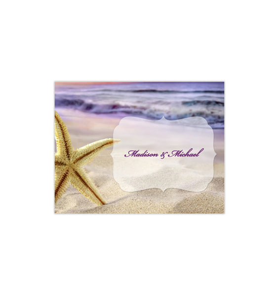 Wedding Thank You Card Sunset Beach Printable DIY Tempalte
