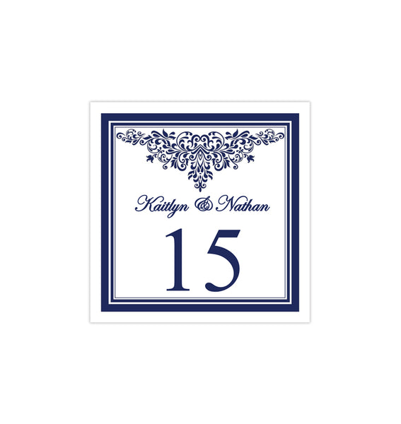 Printable Table Number Template Anna Maria Navy Blue Tent DIY Wedding Templates