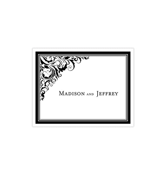 Wedding Thank You Card Brooklyn Black White Printable DIY Template