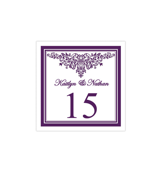 Printable Table Number Template Anna Maria Purple Tent DIY Wedding