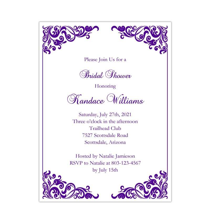 photograph regarding Bridal Shower Invitations Printable identified as Dazzling Pink Bridal Shower Invitation Printable Template