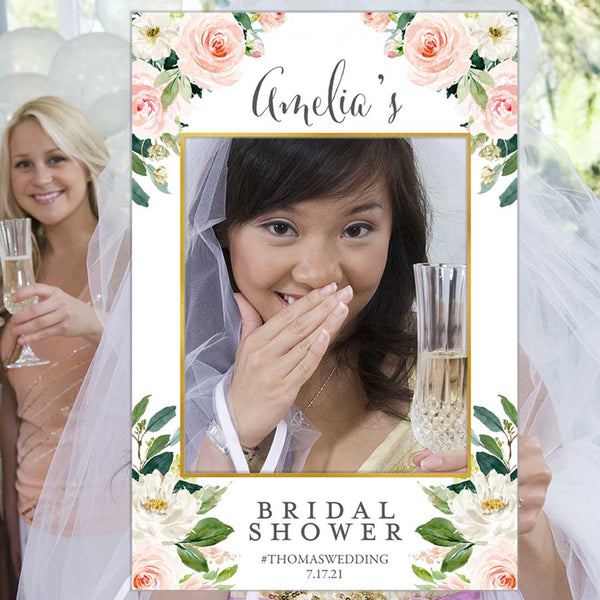 Bridal Shower Photo Prop Frame Edit Online Printable DIY