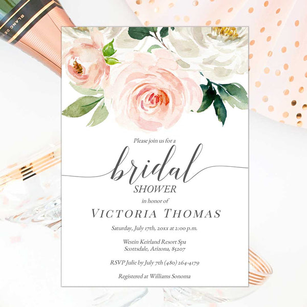 Printable Bridal Shower Invitation Edit Online DIY