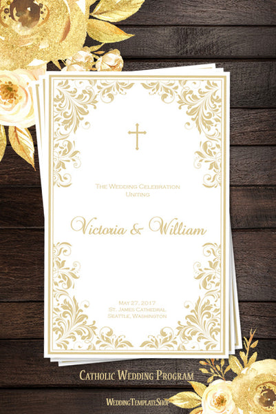 Catholic Church Wedding Program Kaitlyn Champagne