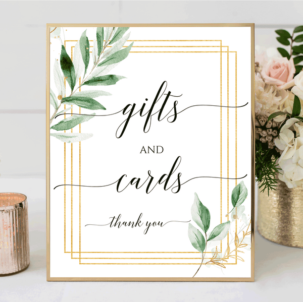 Wedding Sign Printable Gifts and Cards Greenery Instant Download