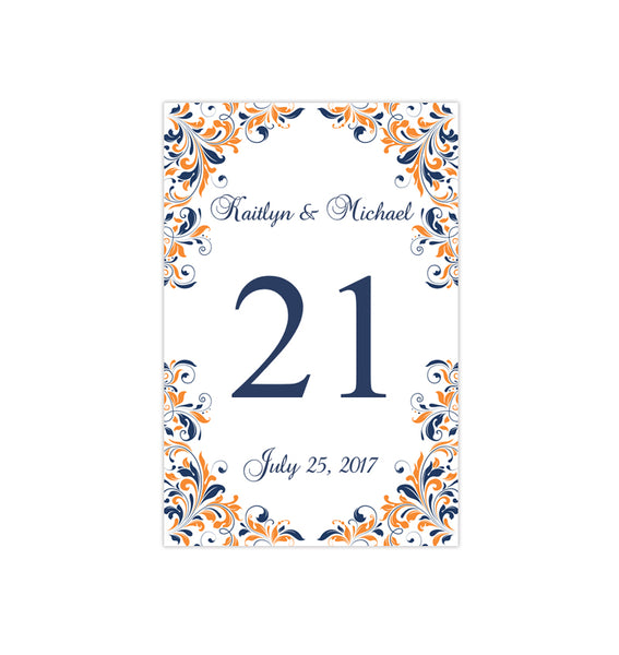 wedding table numbers printable reception template cards tagged