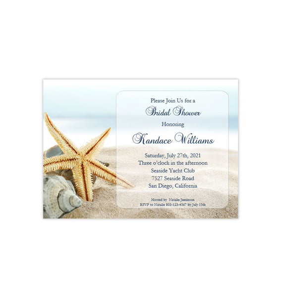 Beach Bridal Shower Invitation Tropical Destination Wedding