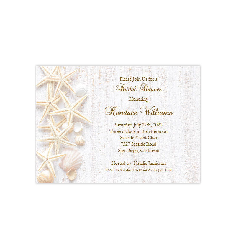 photograph regarding Printable Bridal Shower Invitations named Beach front Seas Bridal Shower Invitation