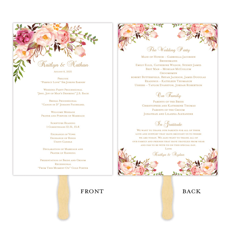 photograph about Printable Wedding Programs titled Marriage ceremony Software program Lover Passionate Blossoms Do it yourself Rite Software program