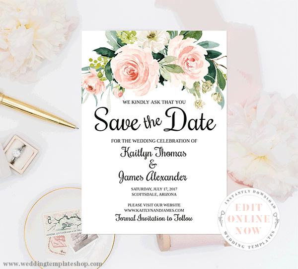 Save The Date Invitations Diy Printable Cards Amp Ideas