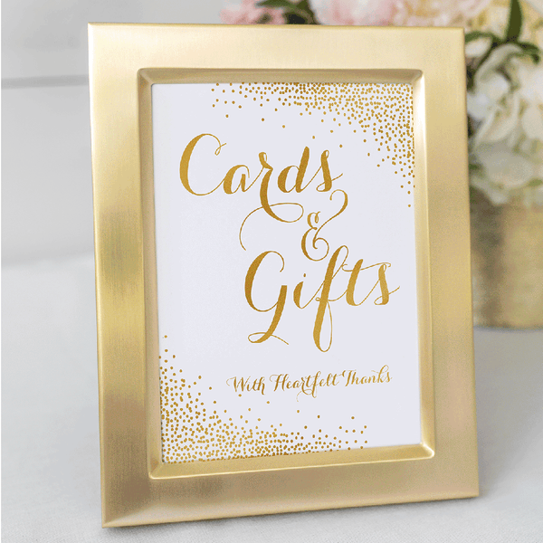 Wedding Sign Printable Gifts and Cards Confetti Gold Printable