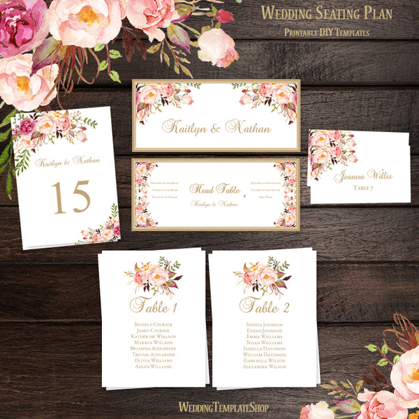 DIY Wedding Seating Chart Set