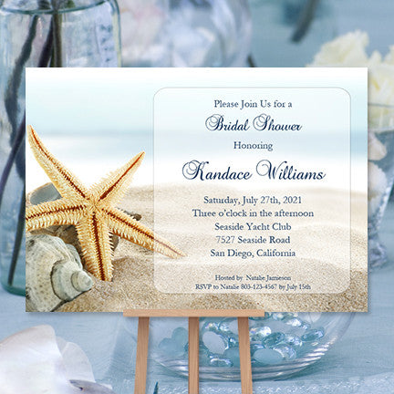 beach bridal shower invitations tropical destination