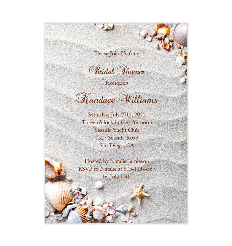 photo regarding Bridal Shower Invitations Printable known as Seashore Bridal Shower Invites Tropical Seass Starfish