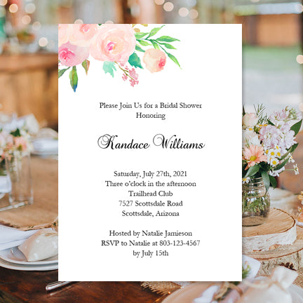 Bridal Shower Invitation Template Watercolor Floral 3 Printable DIY