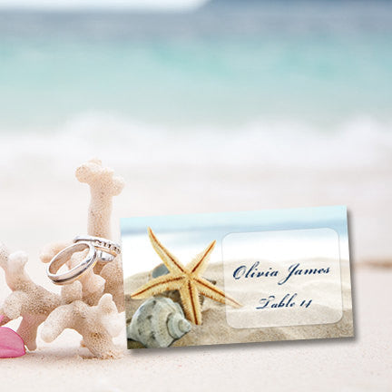 Wedding Seating Card Starfish Tropical Beach Tent