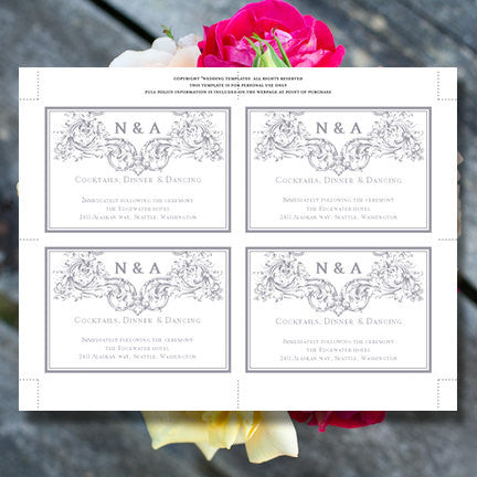 Wedding Reception Invitations Vienna Gray