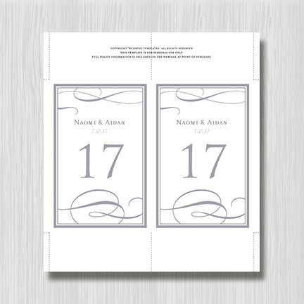 Wedding Table Number Template It's Love Gray Flat