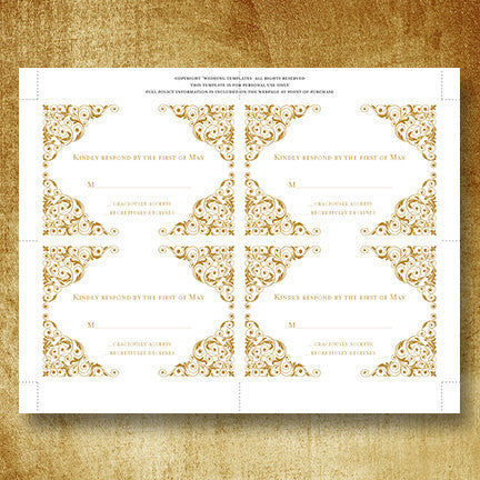 Wedding Response Cards Isabella Gold