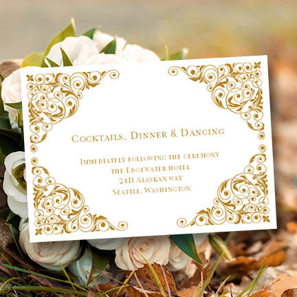 Wedding Reception Invitation Isabella Gold