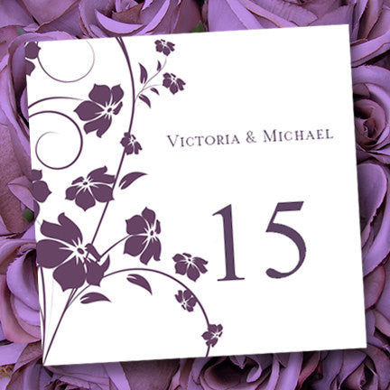 Printable Table Number Template Madison Plum Tent