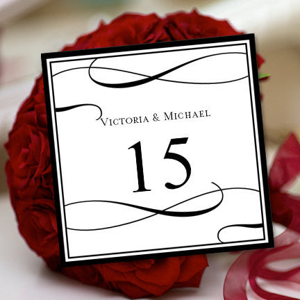Printable Table Number Template It's Love Black White Tent