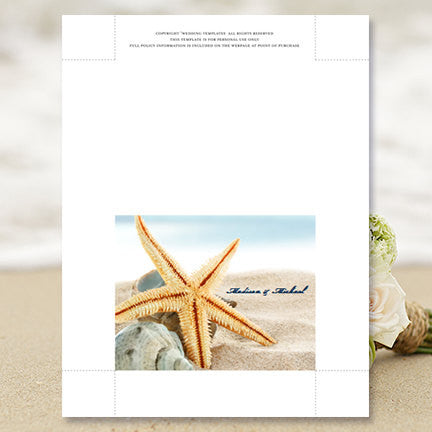 Wedding Thank You Card Beach Starfish
