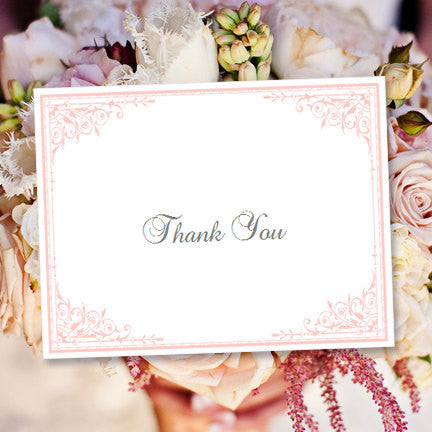 Wedding Thank You Card Maria Pink