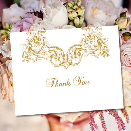 Wedding Thank You Card Vienna Gold