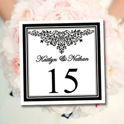 Printable Table Number Template Anna Maria Black White Tent