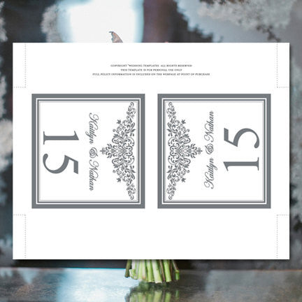 Printable Table Number Template Anna Maria Gray Tent