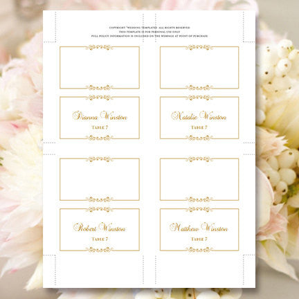 Wedding Seating Cards Madelyn Gold Tent